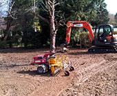 Spray Lawn Services - Regrade & profile existing soil