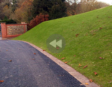 Spray Lawn - Driveway slope / embankment